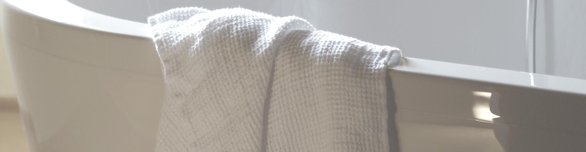 Capri linen waffle towels