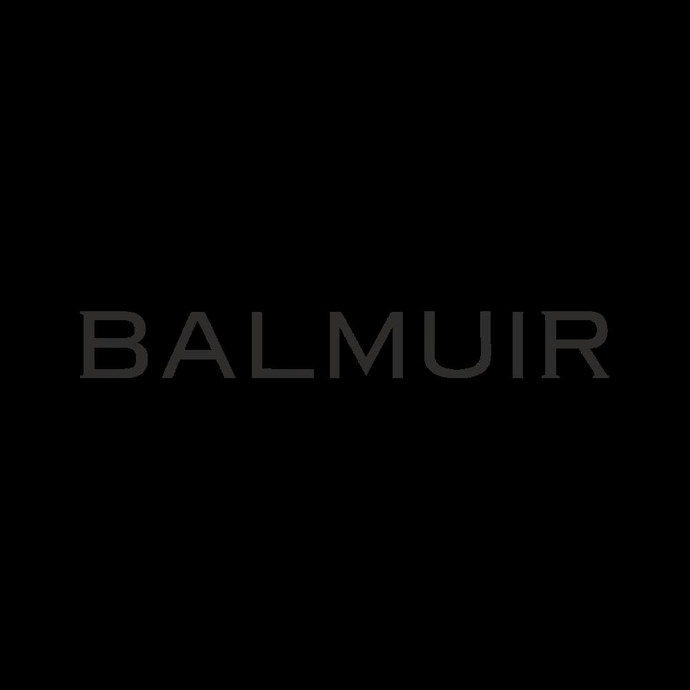 Balmuir beanie w stone logo, light grey melange