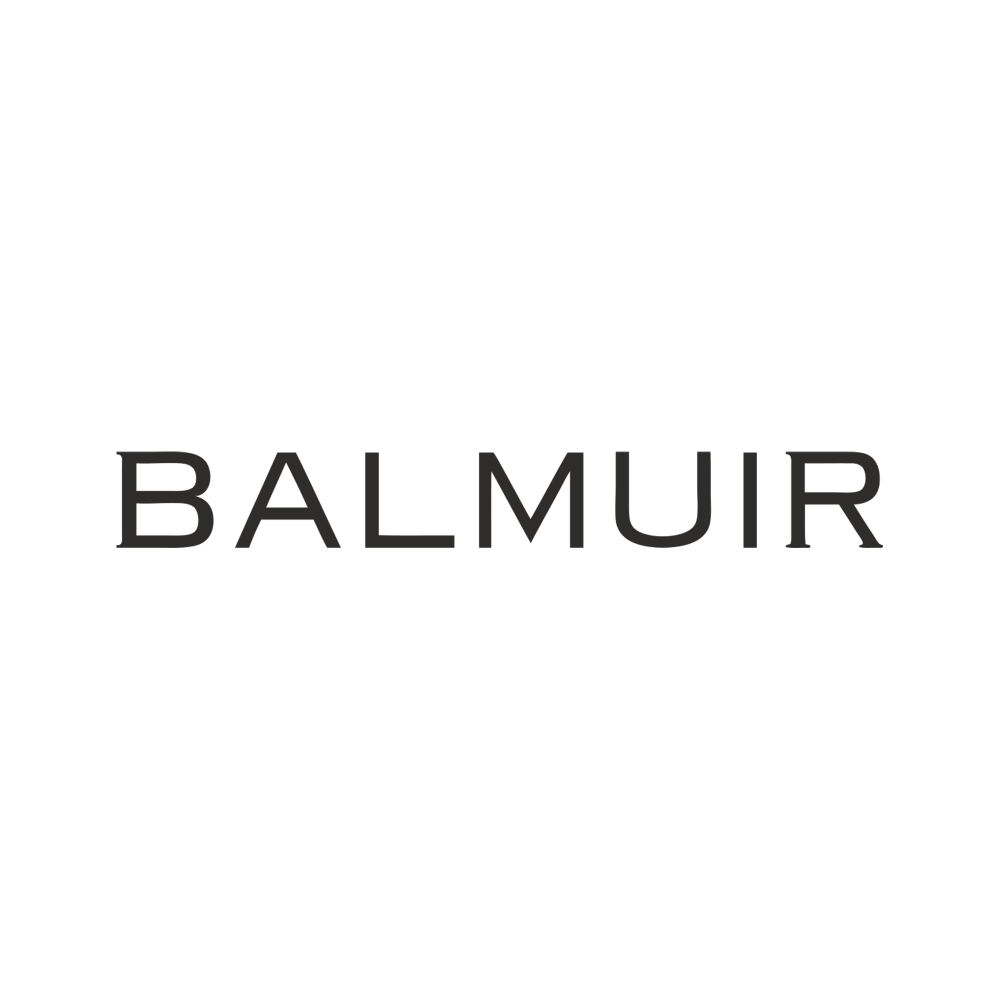 Balmuir taupe round keyring with heart monogram