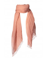 Alessia linen scarf, 90x180cm, old rose