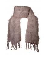 Aurora kid mohair scarf, 35x160cm, purple grey