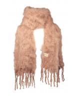 Aurora kid mohair scarf, 35x160cm, almond