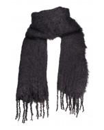 Aurora kid mohair scarf, 35x160cm, black