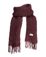 Aurora kid mohair scarf, 35x160cm, burgundy