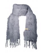 Aurora kid mohair scarf, 35x160cm, grey