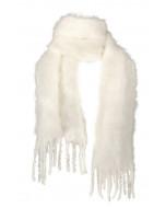 Aurora kid mohair scarf, 35x160cm, ivory