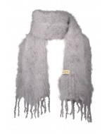 Aurora kid mohair scarf, 35x160cm, light grey