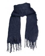 Aurora kid mohair scarf, 35x160cm, midnight