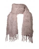 Aurora kid mohair scarf, 35x160cm, mink