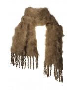 Aurora kid mohair scarf, 35x160cm, dark olive
