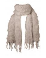 Aurora kid mohair scarf, 35x160cm, taupe