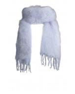 Aurora kid mohair scarf, 35x160cm, blue haze