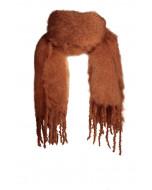 Aurora kid mohair scarf, 35x160cm, ginger bread