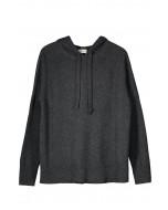 Lilia lounge hoodie, S-L, charcoal melange