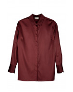 Minerva blouse with buttons, XS-XL, wine red