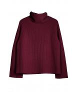 Rianna cashmere sweater, S-L, wine red