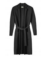 Victoria doubleface cardigan, S-L, black