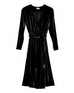 Vivian wrap dress, S-XL, black