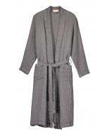 Capri waffle robe, S-XL, dark grey