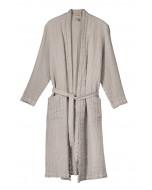 Capri waffle robe, S-XL, light sand