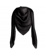 Capri scarf, 140x140cm, solid black