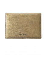 Cecil card holder, leather, gold metallic