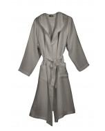 Corsica hooded waffle robe, S-XL, grey