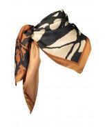 Faith silk scarf, 90x90cm, copper