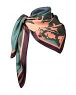 Faith silk scarf, 90x90cm, winter rose