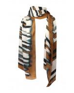 Felicy silk scarf, 65x190cm, cognac