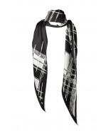 Fianna silk scarf, 70x200cm, black