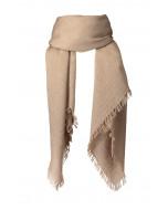 Frankie scarf, 140x140cm, camel melange