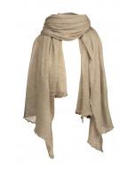 Hanko cashmere scarf, 85x180cm, sand melange