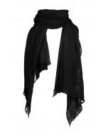 Hanko cashmere scarf, 85x180cm, blackk