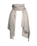 Hanko cashmere scarf, 85x180cm, light greymelange