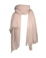 Hanko cashmere scarf, 85x180cm, pale pink
