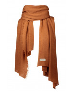 Helsinki cashmere scarf, 70x195cm, ginger bread