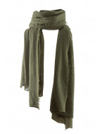 Helsinki cashmere scarf, 70x195cm, olive