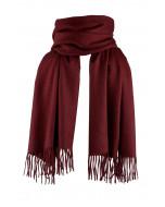 Highland scarf, burgundy