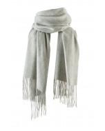 Highland scarf, several sizes, light grey