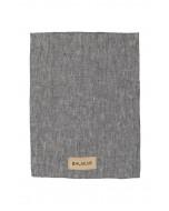 Linen kitchen towel, dark grey melange