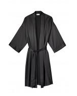 Marbel silk robe, S-L, black