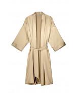 Marbel silk robe, light taupe