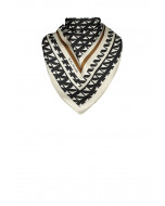 Marina silk scarf, 90x90cm, black