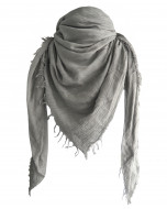 Marseille scarf, 140x140cm, light grey
