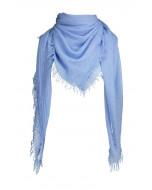 Marseille scarf, 140x140cm, bluebell