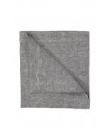 Linen napkin, dark grey melange, 45x45 cm
