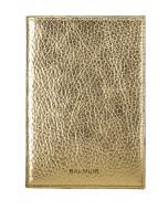 Passport cover, gold metallic