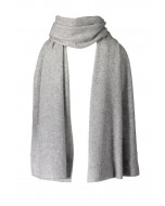 Thea cashmere scarf, 40x200cm, grey melange