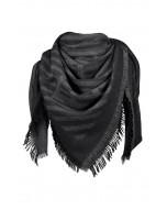 Avignon scarf, 140x140cm, dark grey melange
